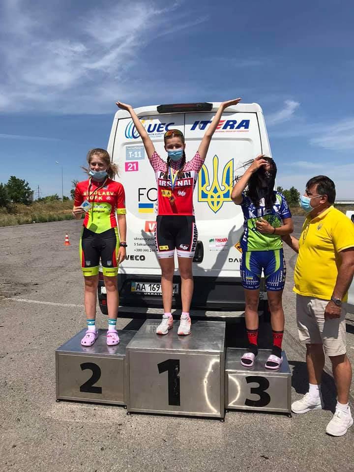 """Учні Білоцерківської велошколи """"Промінь"""" перемогли у Чемпіонаті України з велоспорту"""