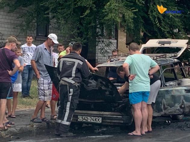 У Білій Церкві посеред дня вщент згорів автомобіль
